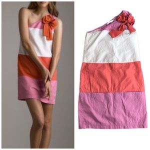 See By Chloe One Shoulder Color Block Dress